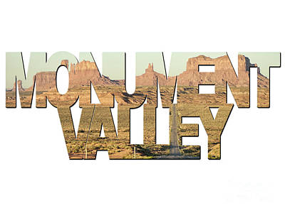 Photograph - Monument Valley Word Art by Toula Mavridou-Messer