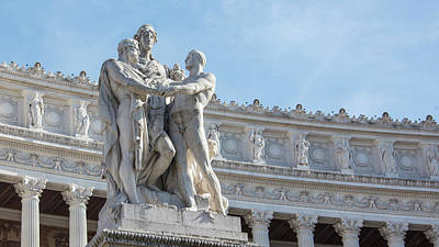 Photograph - Monumento A Vittorio Emanuele II Statue 2 by John McGraw