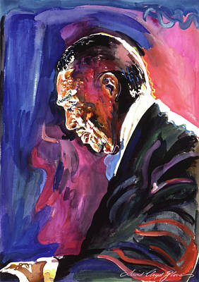 Piano Painting - Mood Indigo Duke Ellington by David Lloyd Glover