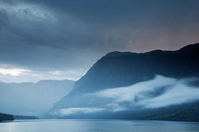 Photograph - Moody Lake Bohinj by Ian Middleton