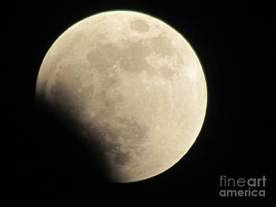 Photograph - Moon Eclipse Panama  by Ted Pollard