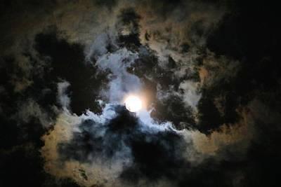 Photograph - Moon In The Clouds by Kathryn Meyer