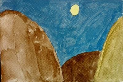 Painting - Moon by Jesus Nicolas Castanon