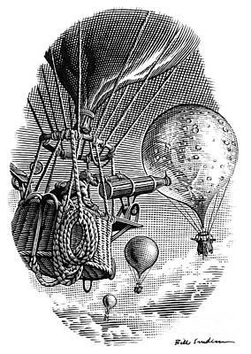 Moon Observations, Conceptual Artwork Art Print