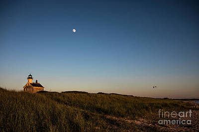 Moon Over The North Light Art Print