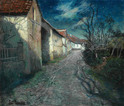 Pastel - Moonlight In Beaulieu by Frits Thaulow