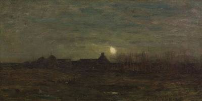 Moonlit Night Art Print by William Tryon