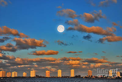 Photograph - 1- Moonrise Over Singer Island by Joseph Keane