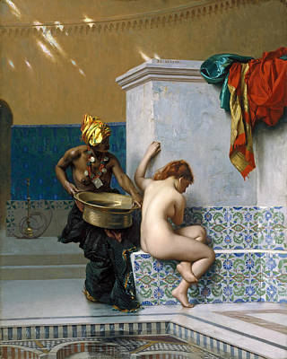 Jean-leon Gerome Painting - Moorish Bath by Jean-Leon Gerome