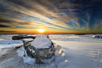 Snow Drifts Photograph - Moose's Tooth by Ed Boudreau