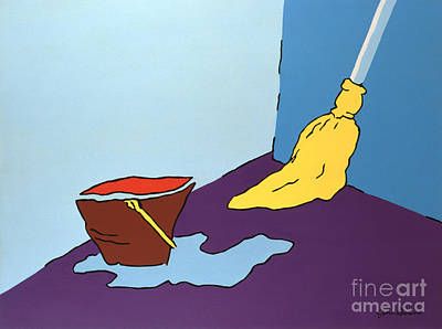 Painting - Mop And Bucket by John Bowers
