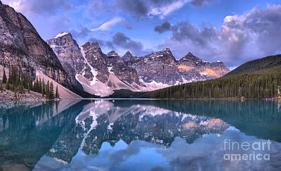 Photograph - Moraine Lake Springtime Sunrise Panorama by Adam Jewell