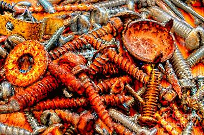 Photograph - More Rusty Screws IIi by Debbie Portwood