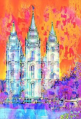 Photograph - Morman Temple Salt Lake City by Bob Pardue