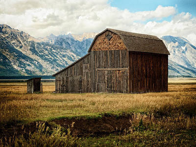 Photograph - Mormon Row Barn No 2 by Sandra Selle Rodriguez