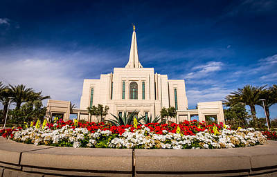 Mormon Temple In Gilbert Arizona Art Print