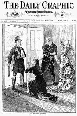 Mormons: Polygamy, 1883 Art Print