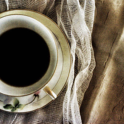 Ceramic Cup Photograph - Morning Coffee by Bonnie Bruno
