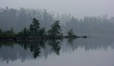 Morning Fog Over Cranberry Lake Art Print