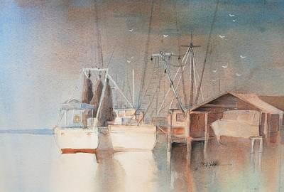 Shrimp Boat Painting - Morning In St. Marys by Robert Yonke