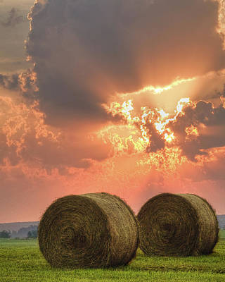 Morning In The Heartland Print by Ron  McGinnis