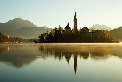 Photograph - Morning Light At Lake Bled by Ian Middleton