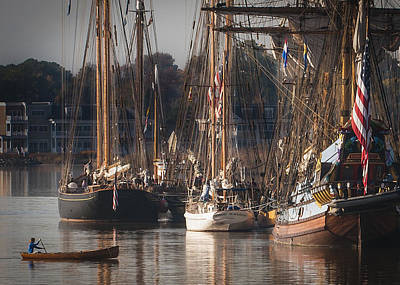 Photograph - Morning Light - Chestertown Downrigging Weekend by Lauren Brice