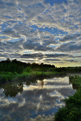 Photograph - Morning Mirror Image In Glacial Park by Ray Mathis