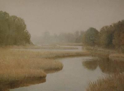 Morning Mist    Ct Art Print by David Olander