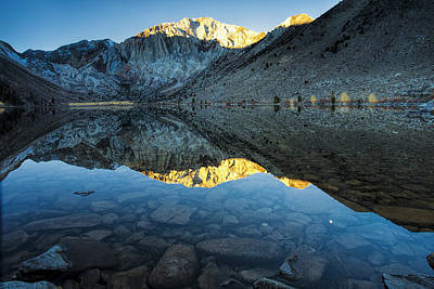 Convict Lake Photograph - Morning Mountain Reflections by Andrew Soundarajan