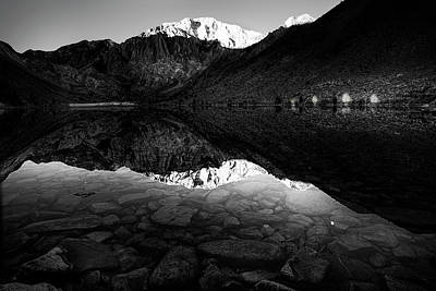 Convict Lake Photograph - Morning Mountain View by Andrew Soundarajan
