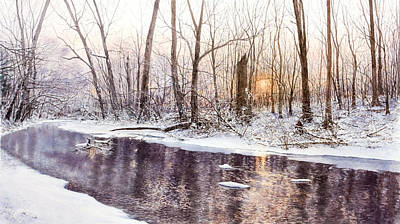 Morning On Monocacy Art Print by Steven J White PWS