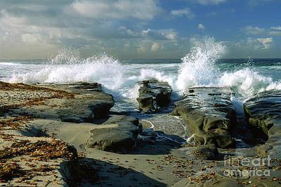 Photograph - The Morning Tide In La Jolla by Sandra Bronstein