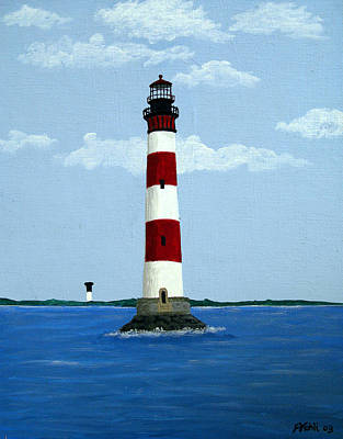 Morris Island Light Art Print by Frederic Kohli