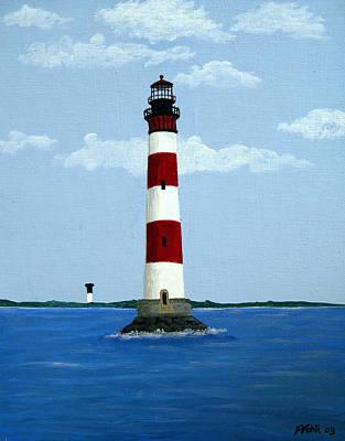 Morris Island Light Print by Frederic Kohli