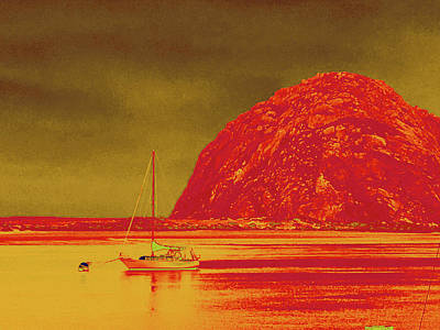 Photograph - Morro Bay Rock by Bill Owen