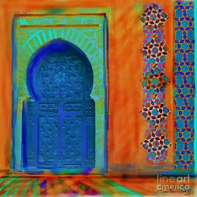 Morroccon Door Art Print by Seema Sayyidah