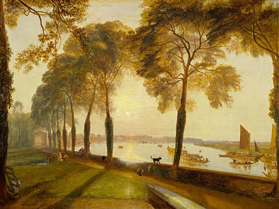 J Boat Painting - Mortlake Terrace by JMW Turner