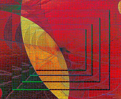 Digital Art - Mosaic #134 by Iris Gelbart