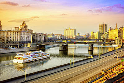 Photograph - Moscow River And The White House by Alexey Stiop