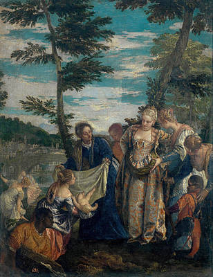 Moses Saved From The Waters Art Print by Paolo Veronese