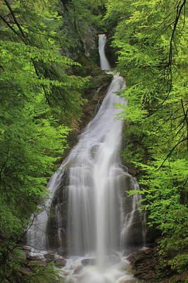 Photograph - Moss Glen Falls Stowe Vermont by John Burk