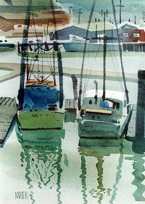 Landing Painting - Moss Landing by Donald Maier