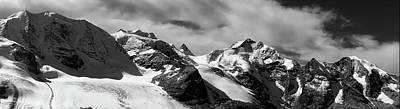 Photograph - Moteratsch Glacier Panorama - Switzerland by Suju