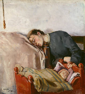 Painting - Mother And Child by Christian Krohg