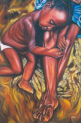 Painting - Mother And Child by Shahid Muqaddim