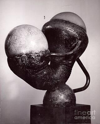 Sculpture - Mother/child I  by Robert F Battles