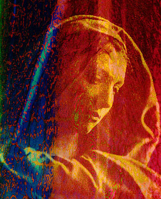 Digital Art - Mother Mary by Asok Mukhopadhyay