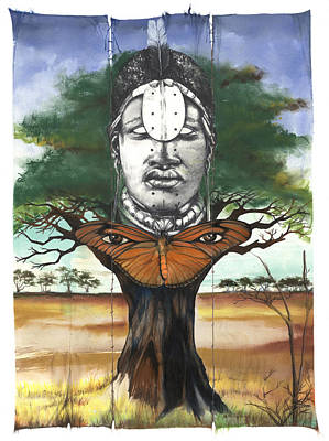 African-american Mixed Media - Mother Nature V by Anthony Burks Sr