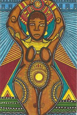 Mother Of The Fifth World Art Print by Perrion Hurd